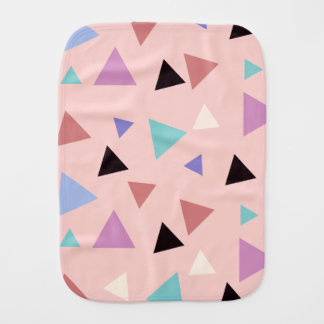 Elegant geometric pattern pink purple mint black burp cloth
