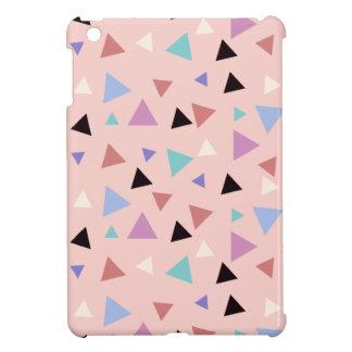 Elegant geometric pattern pink purple mint black iPad mini cover