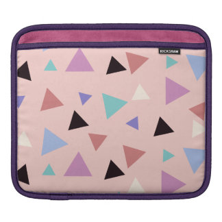 Elegant geometric pattern pink purple mint black iPad sleeve
