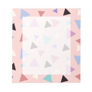 Elegant geometric pattern pink purple mint black notepad