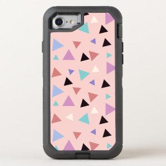 Elegant geometric pattern pink purple mint black OtterBox defender iPhone 8/7 case