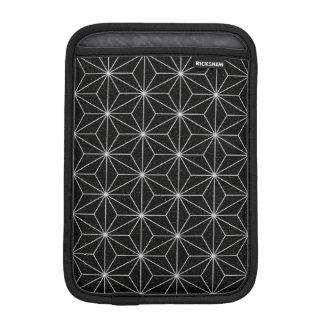 Elegant Geometric Pattern -Silver & Black- iPad Mini Sleeve