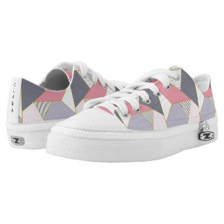 Elegant geometric stripes polka dots pastel Low-Top sneakers