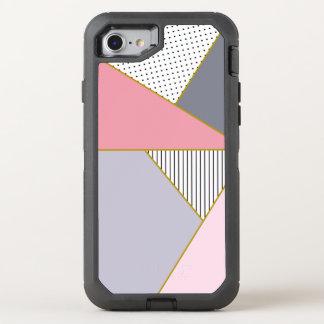 Elegant geometric stripes polka dots pastel OtterBox defender iPhone 8/7 case