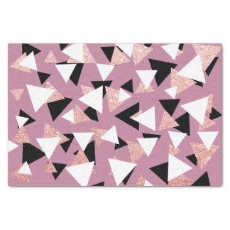 Elegant geometric triangles rose gold glitter tissue paper