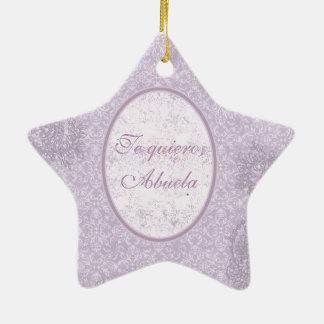 Elegant gift for grandmother ceramic star ornament