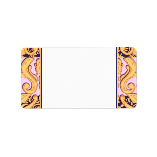 Elegant Gilded Damask Labels for Fancy Occasion