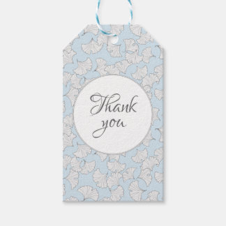 Elegant ginkgo leaves with custom background color gift tags