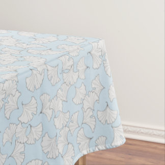 Elegant ginkgo leaves with custom background color tablecloth