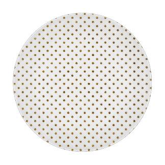 Elegant Girly Cute Polka Dots Glitter Photo Print Cutting Boards