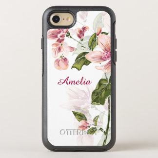 Elegant Girly Floral OtterBox Symmetry iPhone 7 Case