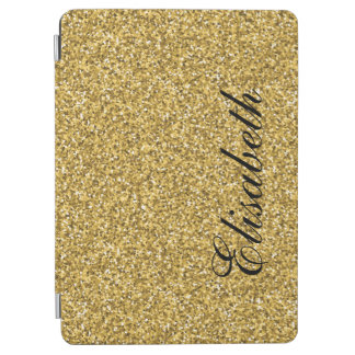 ELEGANT GIRLY GOLD GLITTER PRINTED PERSONALIZED iPad AIR COVER