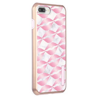 elegant girly rose gold lips pattern white marble incipio DualPro shine iPhone 8 plus/7 plus case