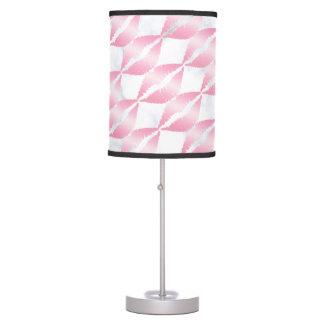 elegant girly rose gold lips pattern white marble table lamp