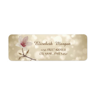 Elegant Girly  Stylish  Bokeh,Magnolia  Address