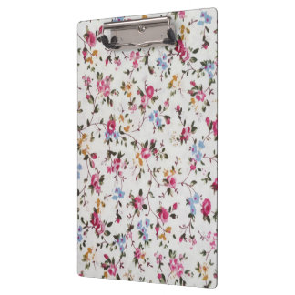 Elegant girly trendy vintage roses  floral pattern clipboard