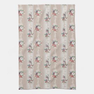 Elegant Girly Vintage Floral Kitchen Towel