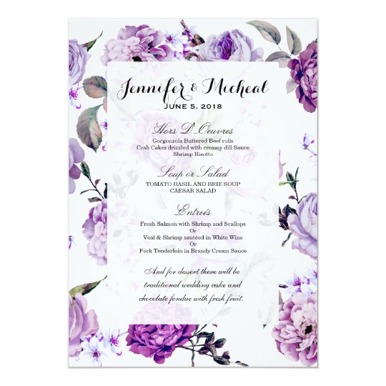 Elegant Girly Violet Lilac Purple Flowers Card