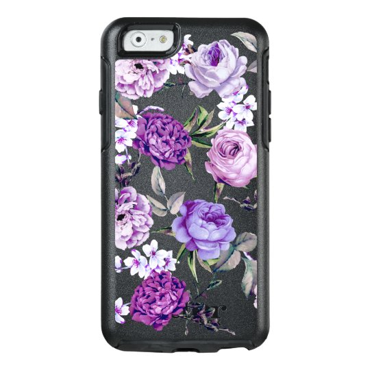 Elegant Girly Violet Lilac Purple Flowers OtterBox iPhone 6/6s Case