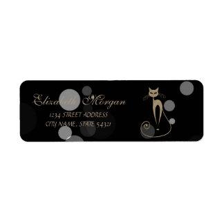 Elegant Glamorous Bokeh,Cat Return Address Label