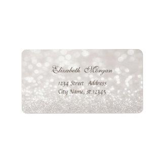 Elegant Glamorous  Chic Glittery Bokeh Label