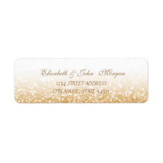 Elegant Glamorous  Glittery Address Label