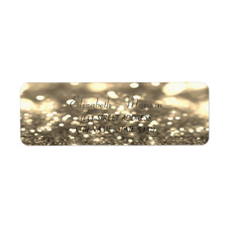 Elegant Glamorous  Glittery   Bokeh Address Label