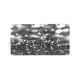 Elegant Glamorous Glittery,Bokeh Label