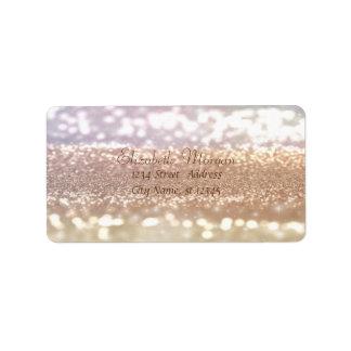 Elegant Glamorous Glittery Label