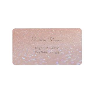 Elegant Glamorous Pink Glittery,Bokeh Label
