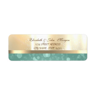Elegant Glamorous Shiny ,Bokeh Address Label