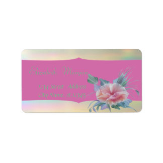 Elegant Glamorous Stylish Romantic,Flower Label
