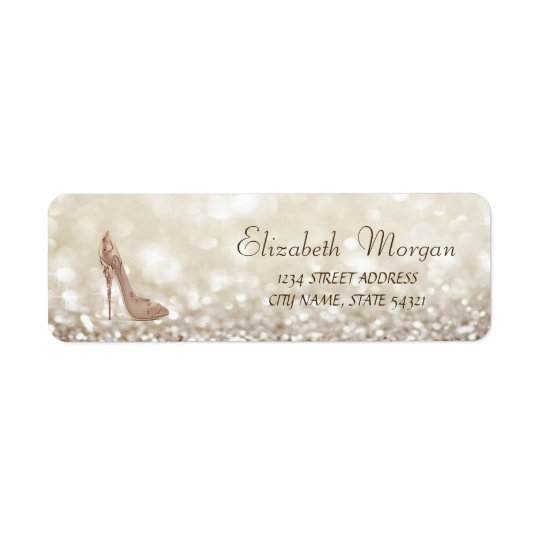 Elegant Glamourous  Address Label-Heels Return Address Label
