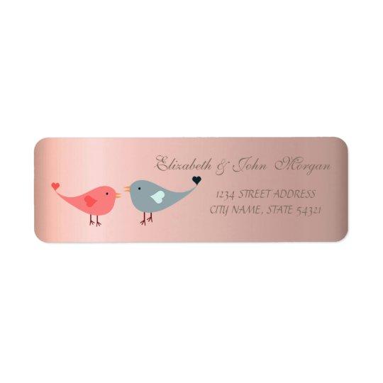 Elegant  Glamourous ,Birds In Love  Address Label