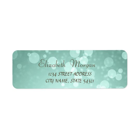 Elegant Glamourous  Bokeh  Address Label