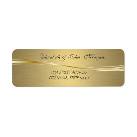 Elegant Glamourous  Faux Gold Address Label
