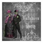 Elegant Glamourous Skeletons Halloween Party