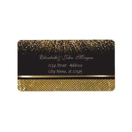 Elegant Glamourous  Stylish Black  Shiny,Sequins Label