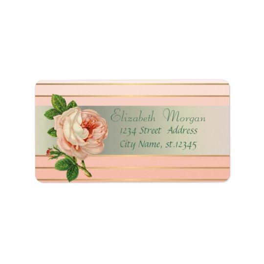 Elegant Glamourous Stylish Romantic,Stripes,Rose