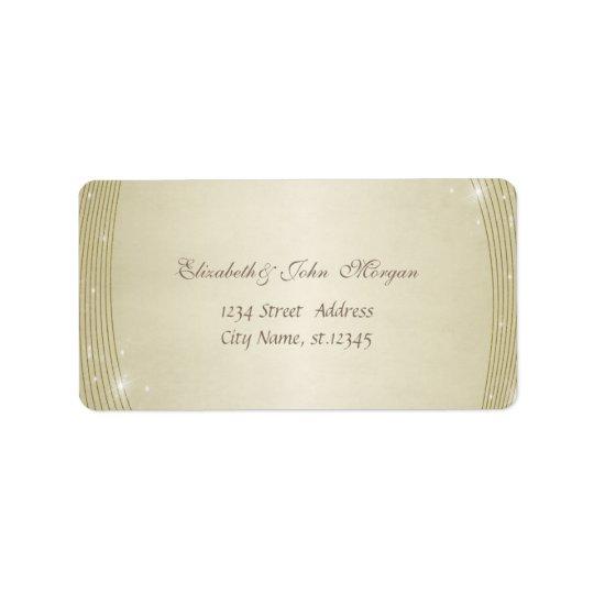 Elegant Glamourous  Stylish Shiny Label