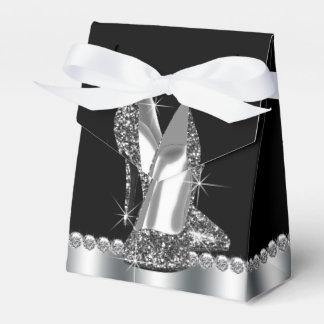 Elegant Glitter High Heel Shoe Favor Box