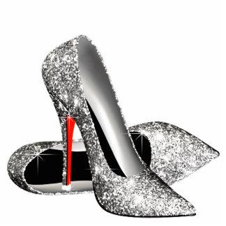 Elegant Glitter High Heel Shoes Photo Cutout