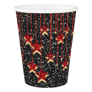 Elegant Glitter Image Party Paper Cups
