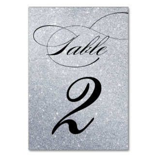 Elegant Glitter Wedding Reception Table Number Table Card