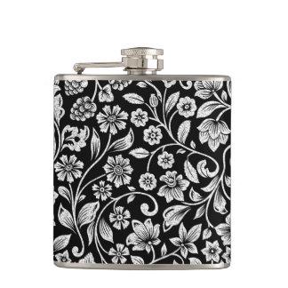 Elegant Glittering Floral Hip Flask