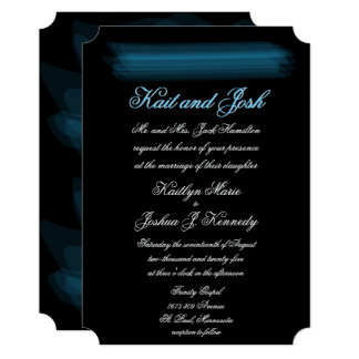 Elegant Glowing Gothic Wedding Card