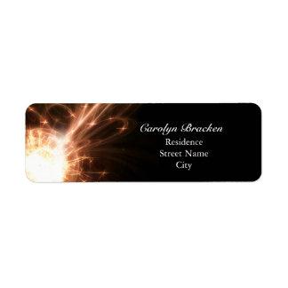 Elegant Glowing Lines Sparkle Return Address Label