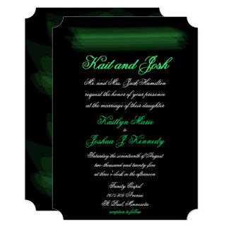 Elegant Glowing Spring Green Wedding Card