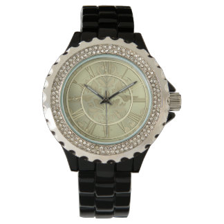 Elegant God Floral Metallic Watch