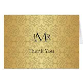 Elegant Gold 50th Anniversary Thank You Card